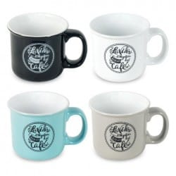 SET 4 MUGS CAFE