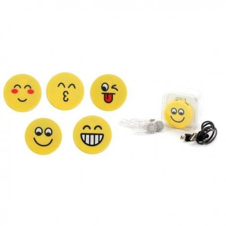 MP3 EMOTICONOS EN CAJA DE REGALO (CABLE+CASCOS)