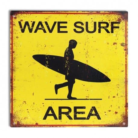PLACA PARED ÁREA SURF 30X30 CM.
