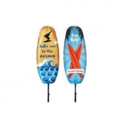 SET 2 PERCHAS 1 POMO SURF 33X10X6 CM.