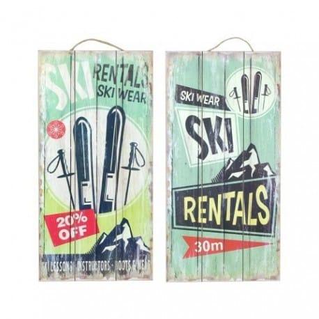 SET 2 PLACAS PARED SURF 48X24 CM.