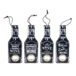 SET 4 ABRIDORES BOTELLAS WINE