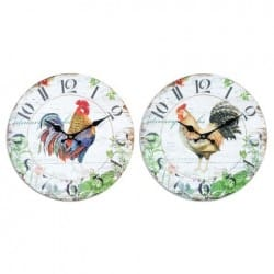 RELOJ PARED 34 CM. GALLO
