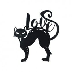 ADORNO PARED GATO LOVE 44X40 CM.