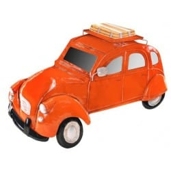 COCHE PARED NARANJA RETRO
