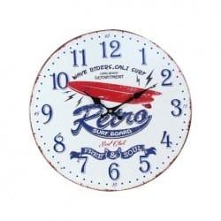RELOJ PARED SURF RETRO 40X40X2.5 CM.