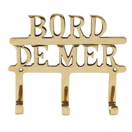 PERCHA 3 POMOS BORD DE MER 16X18.5X3 CM.