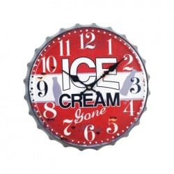 RELOJ PARED ICE CREAM 33X33X3.5 CM.