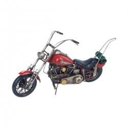 FIGURA MOTOCICLETA RETRO METAL 35X9X21 CM.