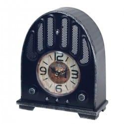 RELOJ SOBREMESA RADIO RETRO METAL 18.50X8X22 CM.