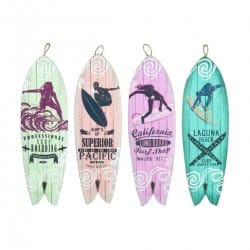 SET 4 PERCHAS PARED TABLA SURF 12.50X0.90X40 CM.