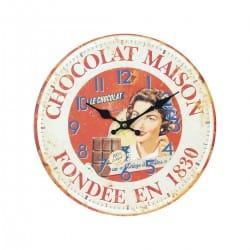 RELOJ PARED CHOCOLATE RETRO 34X4X34 CM.