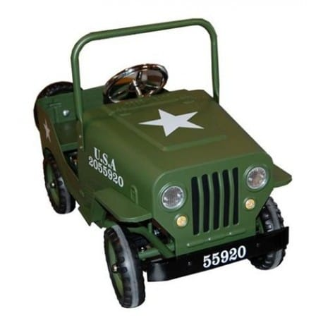 JEEP A PEDALES VERDE