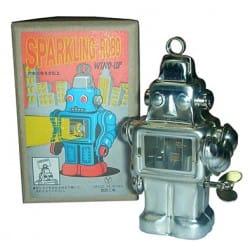 ROBOT SPARKLING PLATEADO