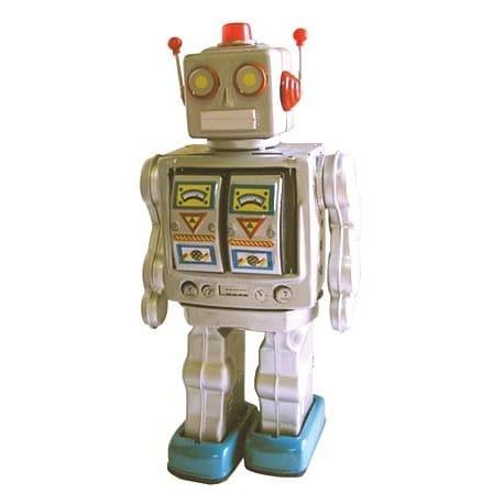 ROBOT GRANDE CHINA PLATEADO