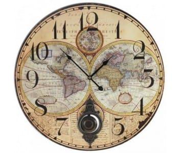 Relojes pared mapa